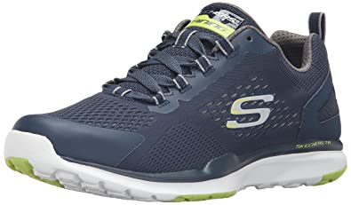 Skechers Sport Men's Quick Shift TR Oxford Sneaker, Charcoal/Lime, 8.5 M US