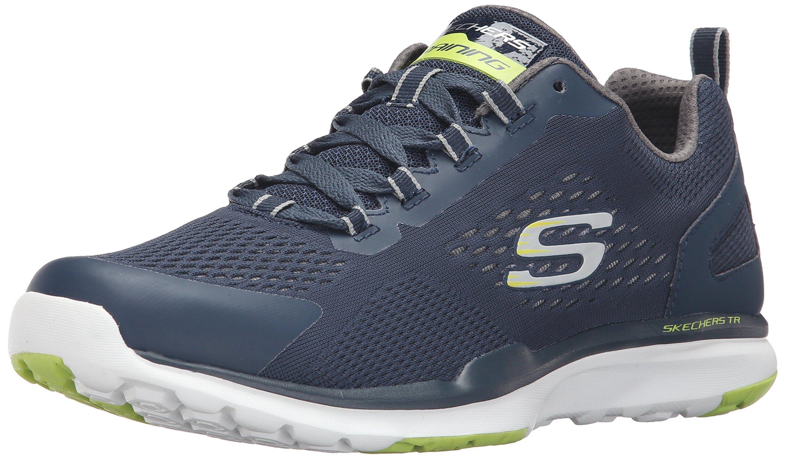 Calzado deportivo para hombre, color Negro , marca SKECHERS, modelo Calzado Deportivo Para Hombre SKECHERS 51543S SUPERSET Negro, azul marino/verde lima, 44