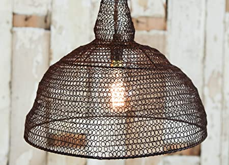 Jatani wire lamp shade rust conical 32 x 365cm dia amazon jatani wire lamp shade rust conical 32 x 365cm dia greentooth Gallery