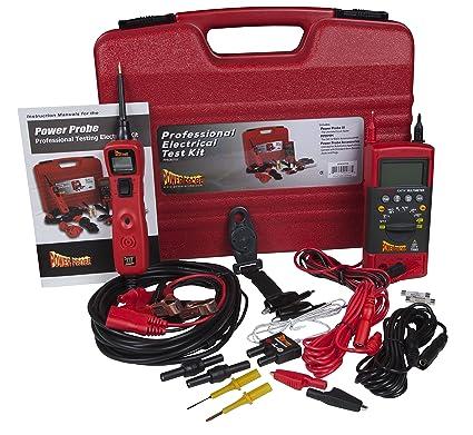 Sensational Amazon Com Power Probe Professional Electrical Test Kit Red Wiring 101 Carnhateforg