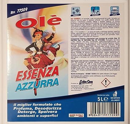 Ole Essenza 5 Litri Ole Essenza Azzurra Profumata Rosa Bianca