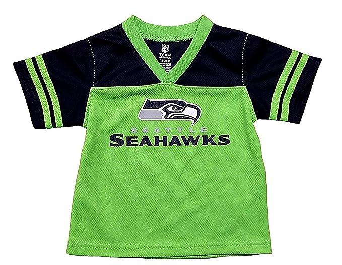 sale retailer 3a0fc c5462 Amazon.com: Seattle Seahawks Green NFL Infants Team Apparel ...