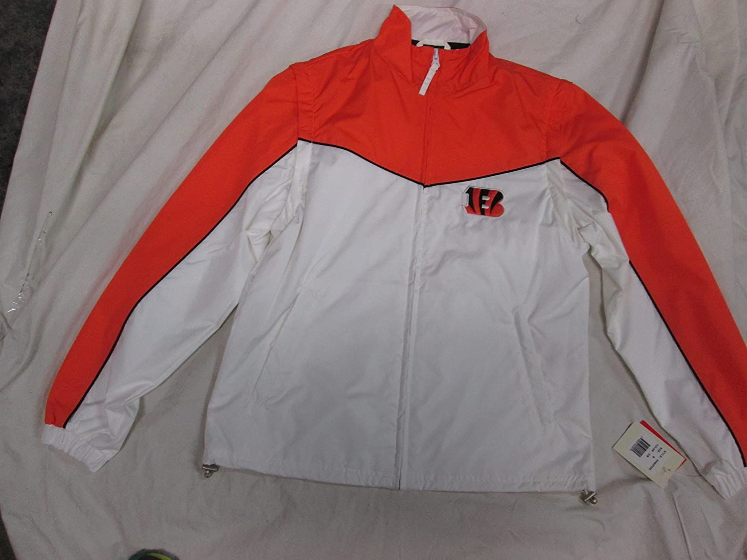 Amazon.com   G-III Sports Cincinnati Bengals Womens Medium (M) Full Zip Windbreaker  Jacket with Removeable Sleeves ACIN 11 Ham AMZ 1065 Q1   Sports   ... b67774ca4d