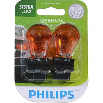 Philips 3757NALLB2 LongerLife Miniature Bulb, 2 Pack: Automotive