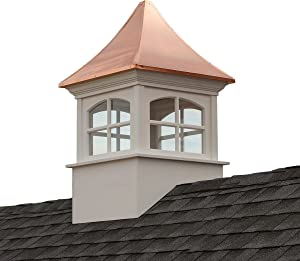 "Good Directions Westport Vinyl Cupola with Copper Roof, 26"" x 42"""