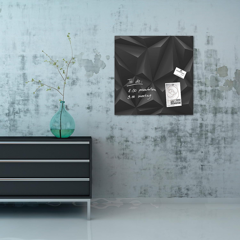 Design Dark-Wood SIGEL GL255 Pizarra de cristal magn/ética Artverum 48 x 48 cm
