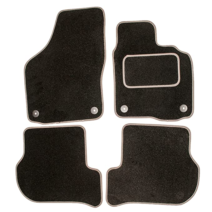 Tailored Fit Black Durable Carpet Floor Mats 5pc Mat Set for Volvo XC90 02-14