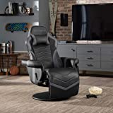 RESPAWN-900 Racing Style Gaming Recliner, Reclining Gaming Chair, in Gray