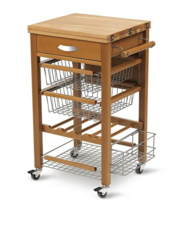 Amazon.de: ARREDAMENTI ITALIA Küchenwagen GASTONE, Holz ...