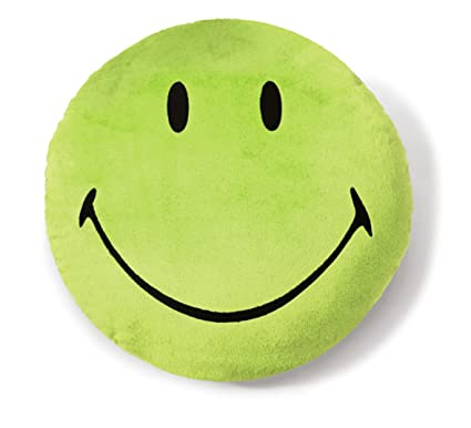 Amazon.com: NICI Smiley Ronda cojín de peluche (verde) 13.8 ...