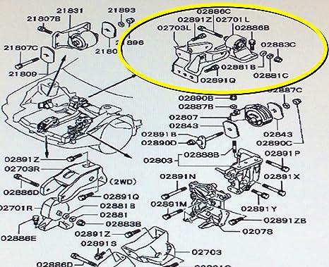 amazon com genuine mitsubishi rear motor transmission roll stop 2005 Mitsubishi Endeavor Engine Diagram