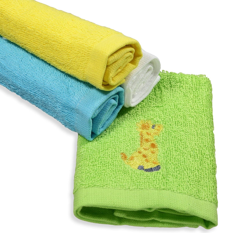 Spasilk 4 Woven Washcloths Grey Elephant