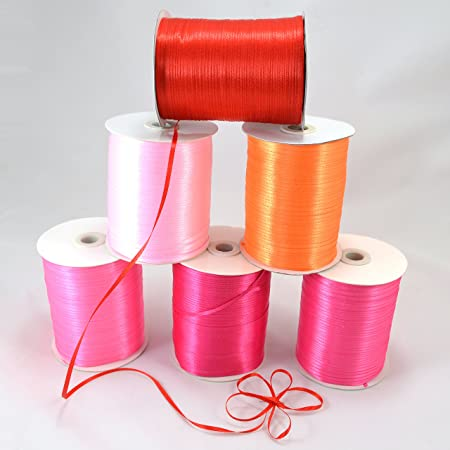 Tinksky 870 Yard 1//8 Inch Wide Red Satin Ribbon for Birthday Party Scrapbooking Wedding Favors Craft Bowknot