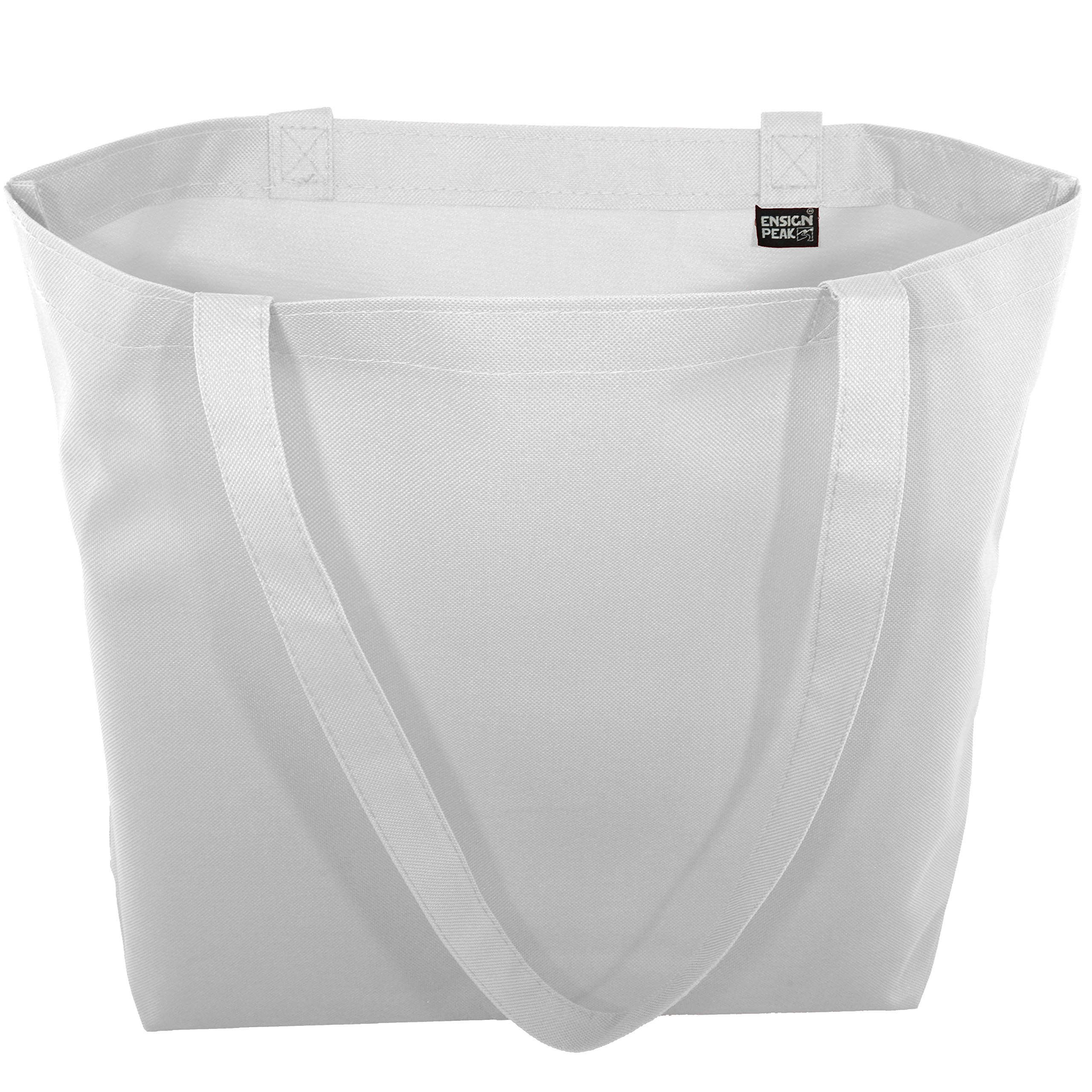 Large Shopping Tote with Shoulder Length Handles (White) by Ensign Peak (Image #3)