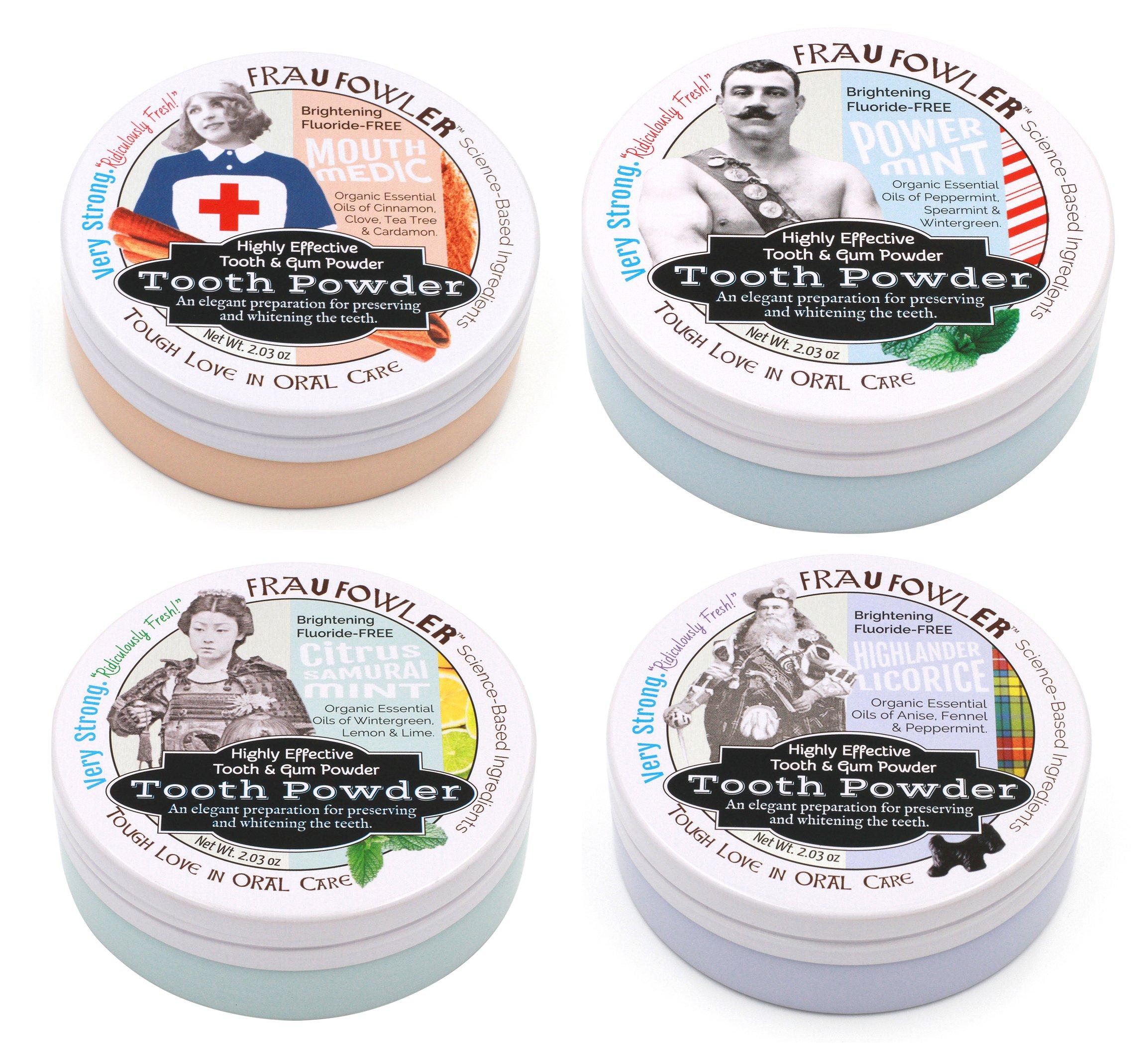 Frau Fowler Variety Pack Tooth & Gum Powder 4 Pack