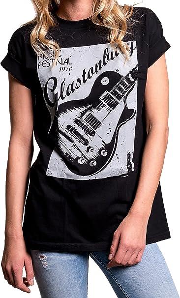 MAKAYA Top con Guitarra Fiesta Musica - Glastonbury - Camiseta ...