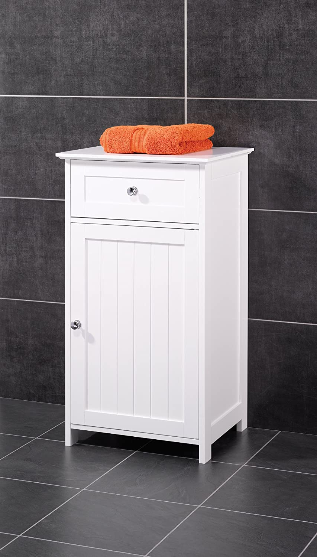 White New England Bathroom Storage Cabinet Unit: Amazon.co.uk
