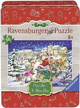 Ravensburger - Puzzle Navidad en Caja de Metal (07548 5): Amazon.es: Juguetes y juegos