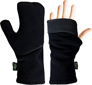 product image for Turtle Gloves Heavyweight Convertible Running Mittens Provides Weather Protection