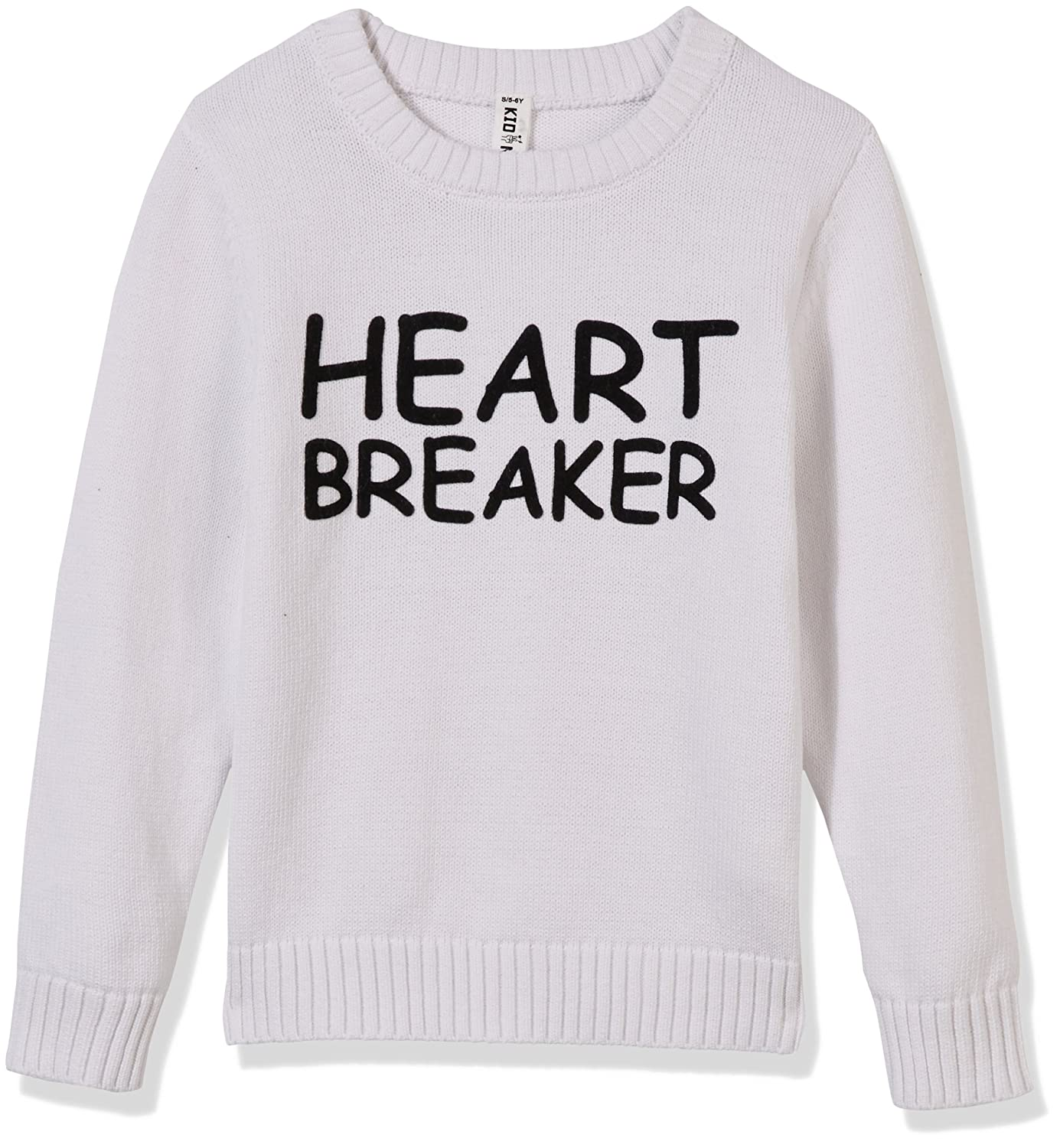 Kid Nation Kids' Sweater Crew Neck Long Sleeve Cotton Casual Pullover with Print Letters for Boys or Girls 8KNU011