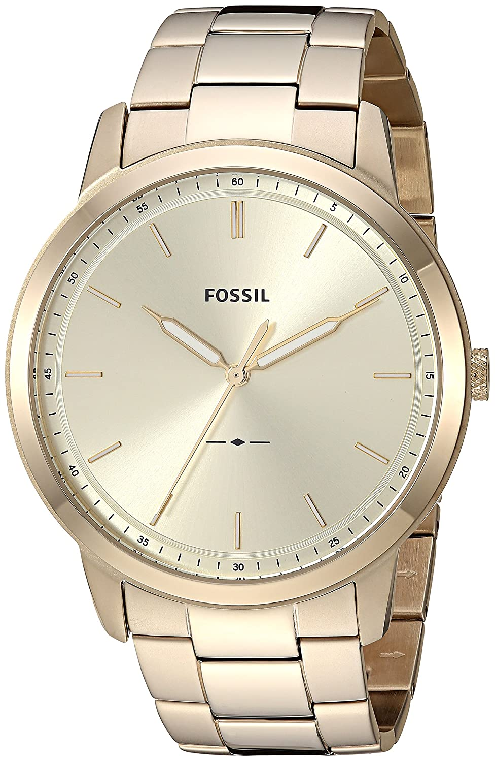 Amazon.com: Fossil Mens The The Minimalist 3H Quartz Stainless-Steel-Plated Strap, Gold, 22 Casual Watch (Model: FS5462: Fossil: Watches