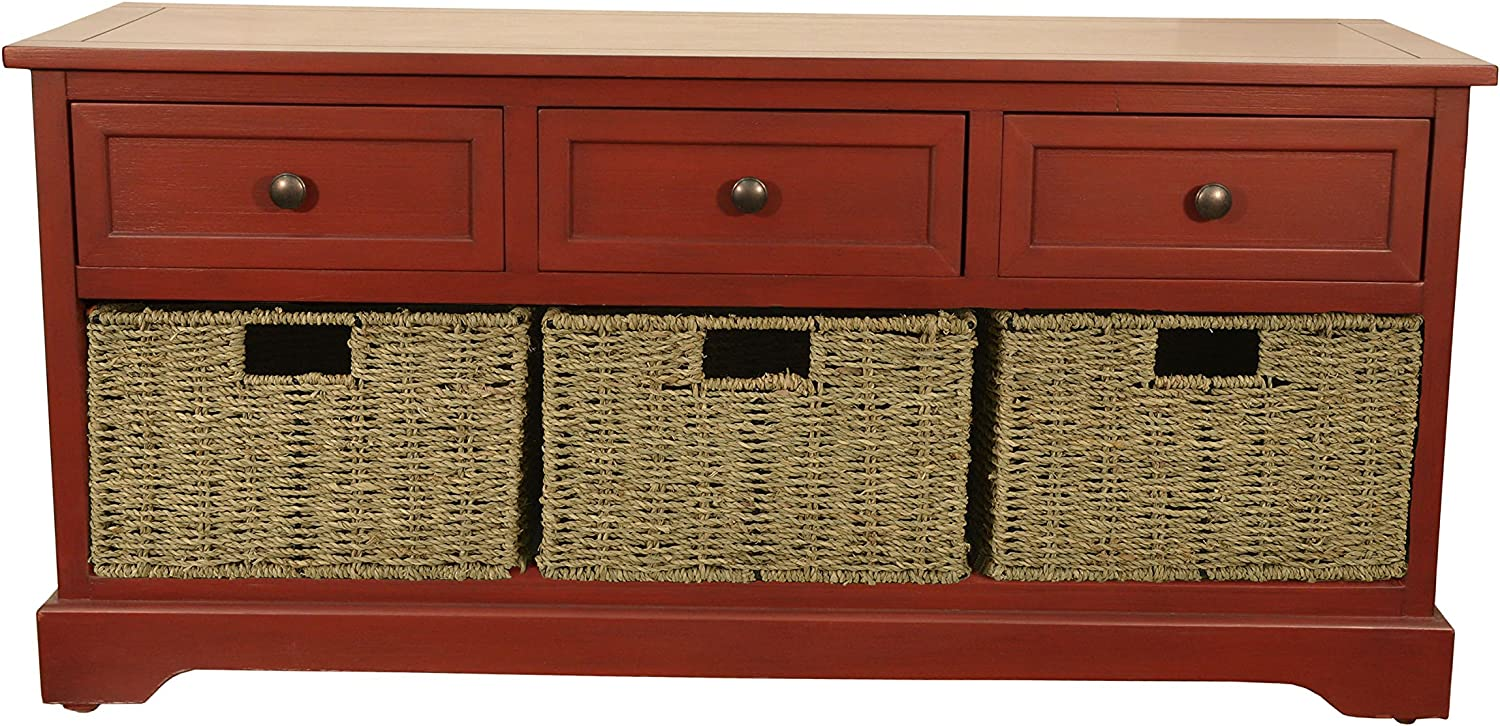 Décor Therapy Fr6300 Bench, Antique Red