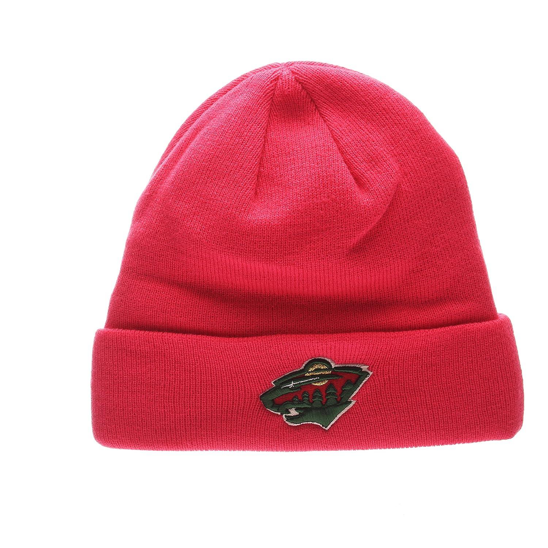 NHL Ladies Cuffed Winter Knit Toque Cap Zephyr Bright Pink POP Cuff Womens Beanie Hat