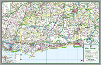 where is west sussex on the map