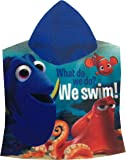 "Girl's Disney ""FINDING DORY"" Printed Hoody Poncho Towel, One Size 2 to 8 Years (50 x 115 cm)"