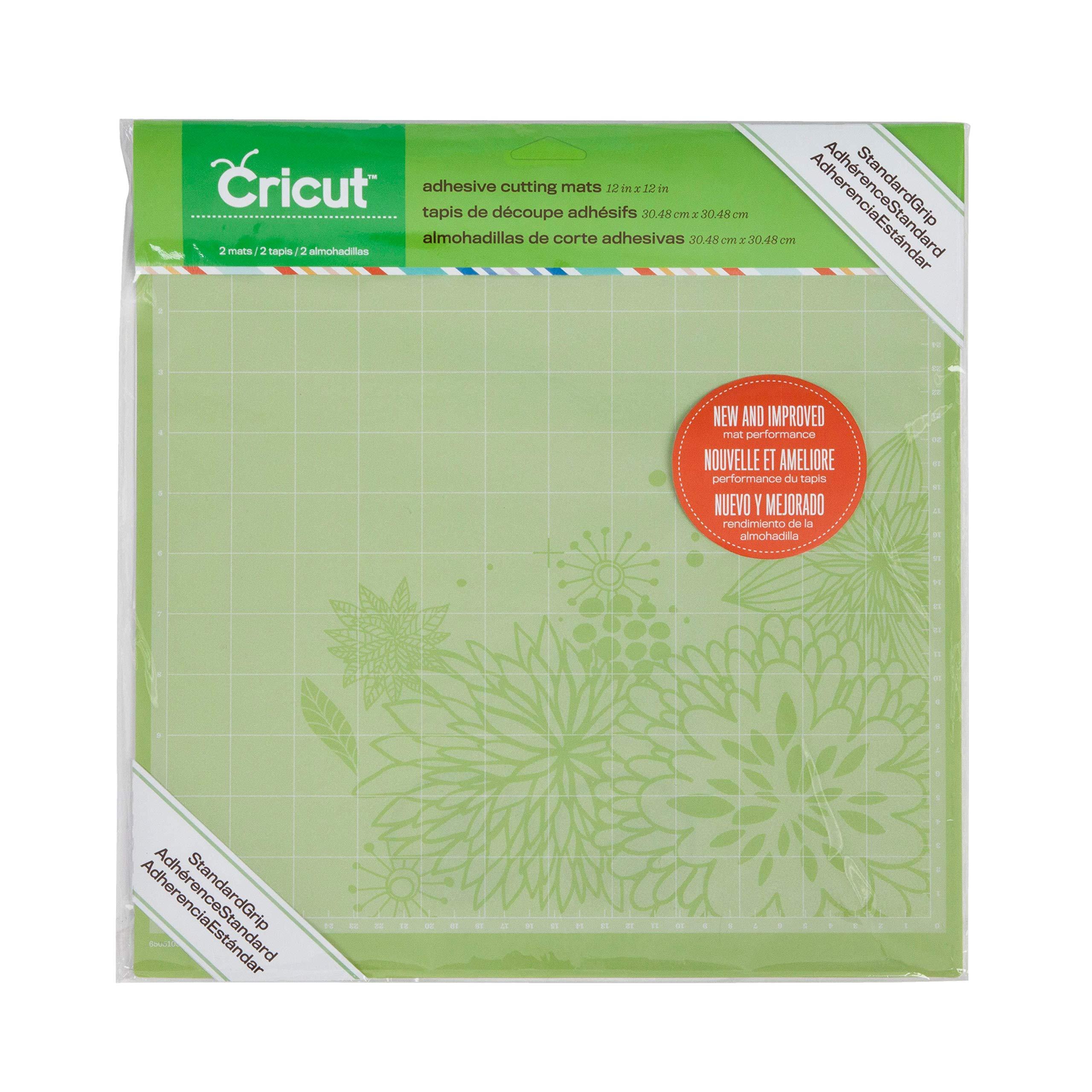 Cricut Standard Grip, 12''x12'', 2 Mats, Green by Cricut