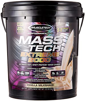 MuscleTech Mass-Tech Weight Gainer- best weight gainer for men
