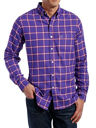 Noble Mount Mens 100% Cotton Flannel Shirt - Regular Fit at Amazon ...