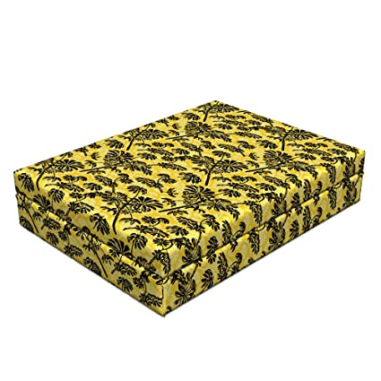 Amazon com : Lunarable Tropical Dog Bed, Exotic Hawaiian