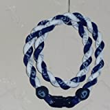 "Phiten Tornado Necklace: Navy/White 18"" Finished Length"