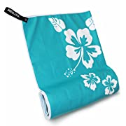 """Microfiber Beach Towels for Travel - Quick Dry & Lightweight Towel for Swimmers - Sand free Towel - Oversized Beach Blanket & towel for kids & adults - Compact Sports & Pool towel 57""""x28"""""""