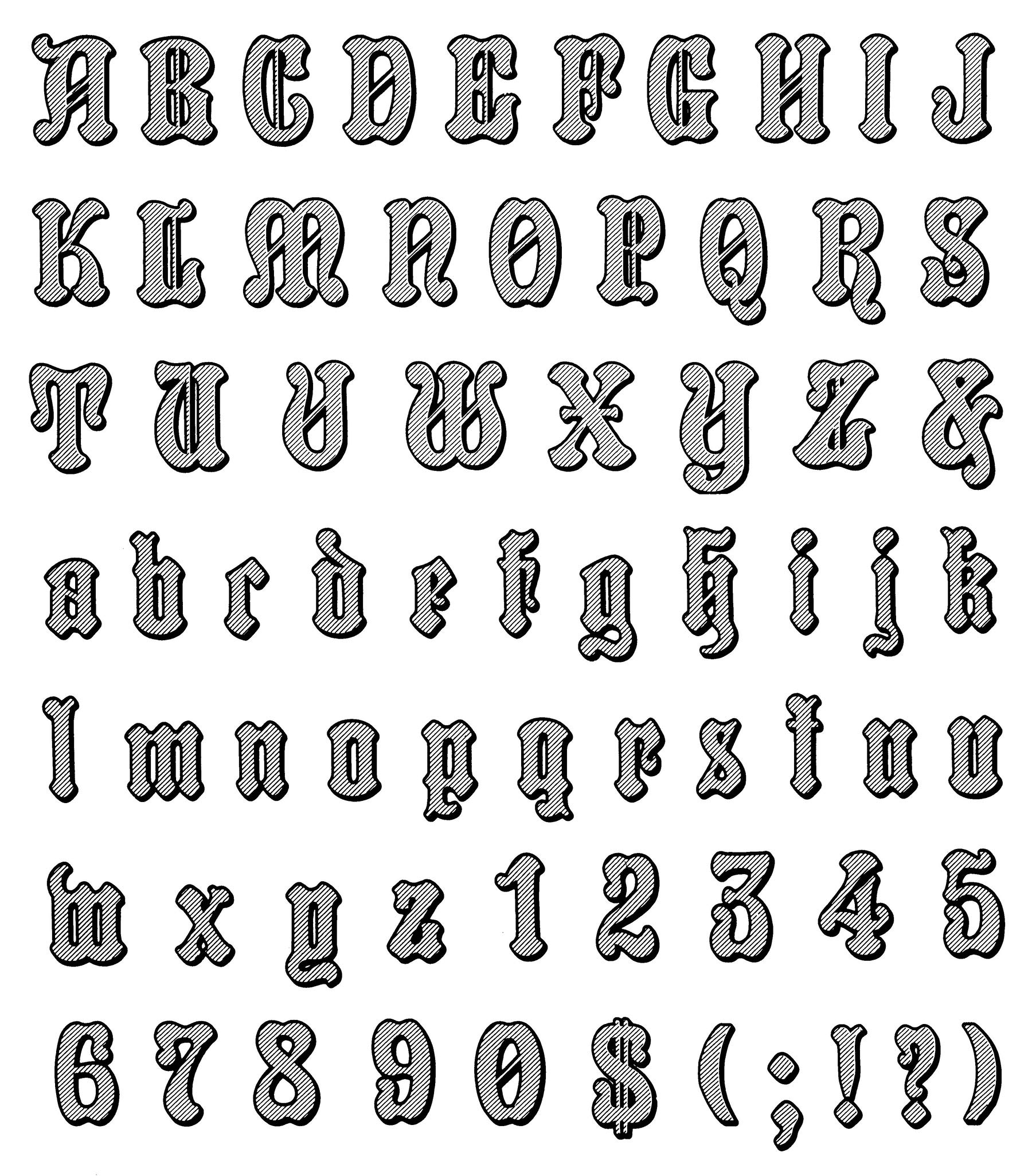 Gothic And Old English Alphabets 100 Complete Fonts Lettering Calligraphy Typography Solo Dan X 9780486246956 Amazon Com Books