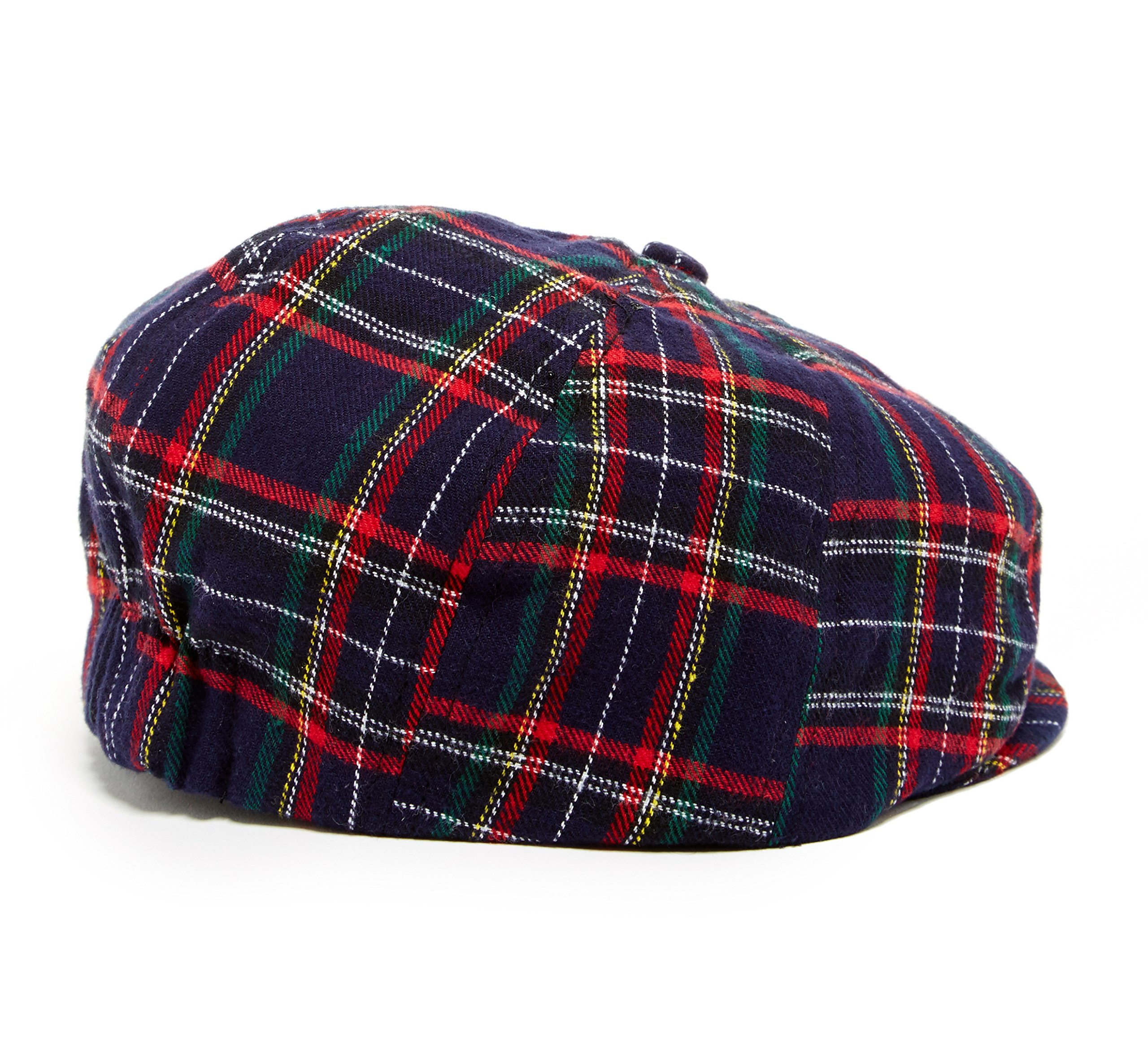 Christmas Plaid baby toddler & kids caps (XXS 46 cm 6-12m, navy and green) by Born to Love (Image #2)