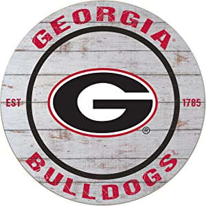 "KH Sports Fan 20""x20"" Weathered Georgia Bulldogs Classic Circle Wall Sign"