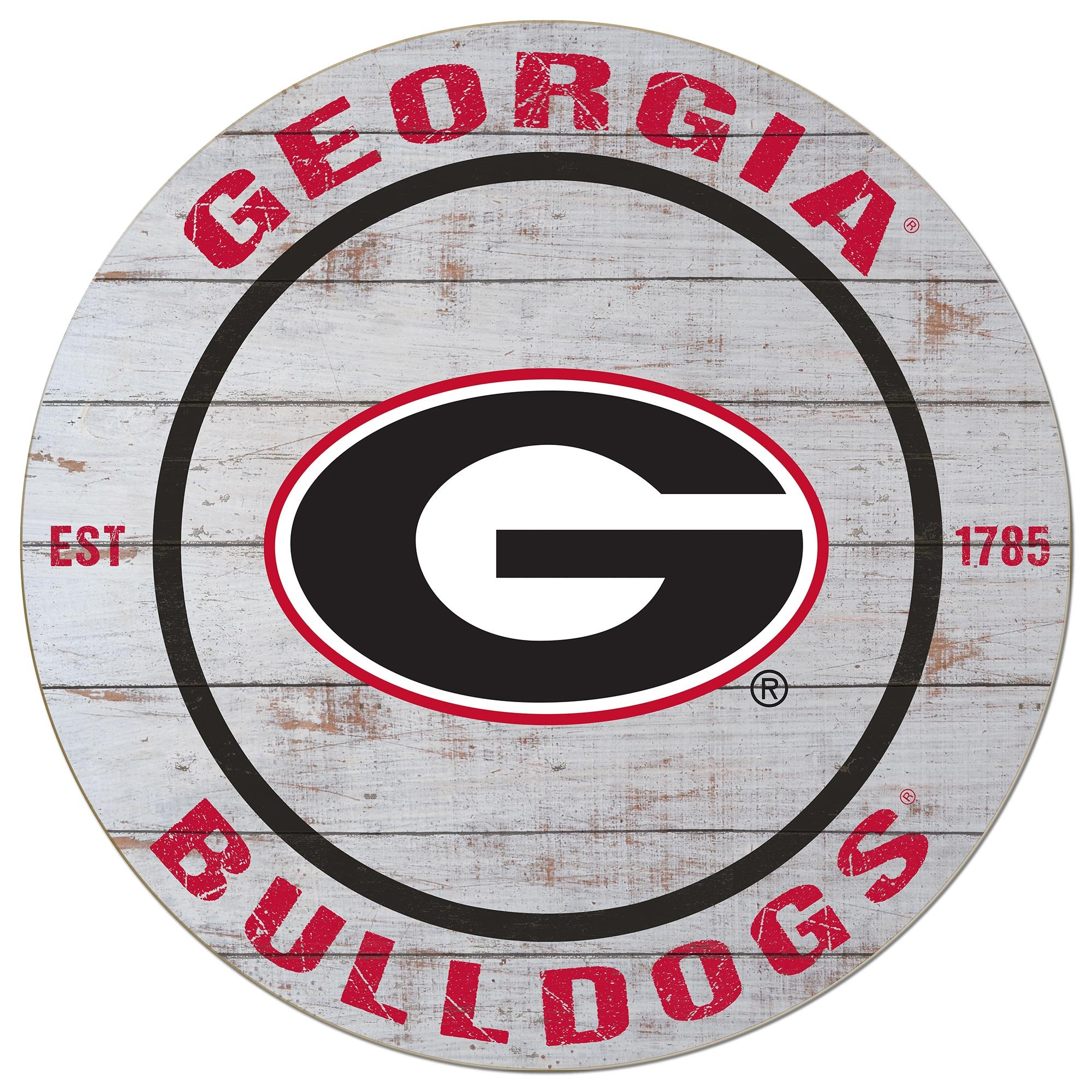 KH Sports Fan 20''x20'' Weathered Georgia Bulldogs Classic Circle Wall Sign by KH Sports Fan