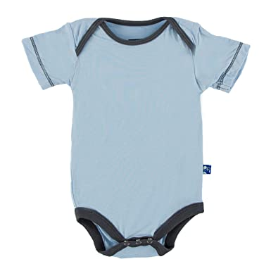6564b2485a8 Amazon.com  Kickee Pants Baby Boys  Solid Short Sleeve One Piece Prd ...