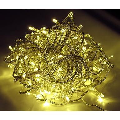 LED-Lichterkette warmweiss f/ür innen und aussen 96 Lampen Art.Nr.LK002W