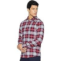 Diverse Men's Checkered Regular Fit Cotton Casual Shirt