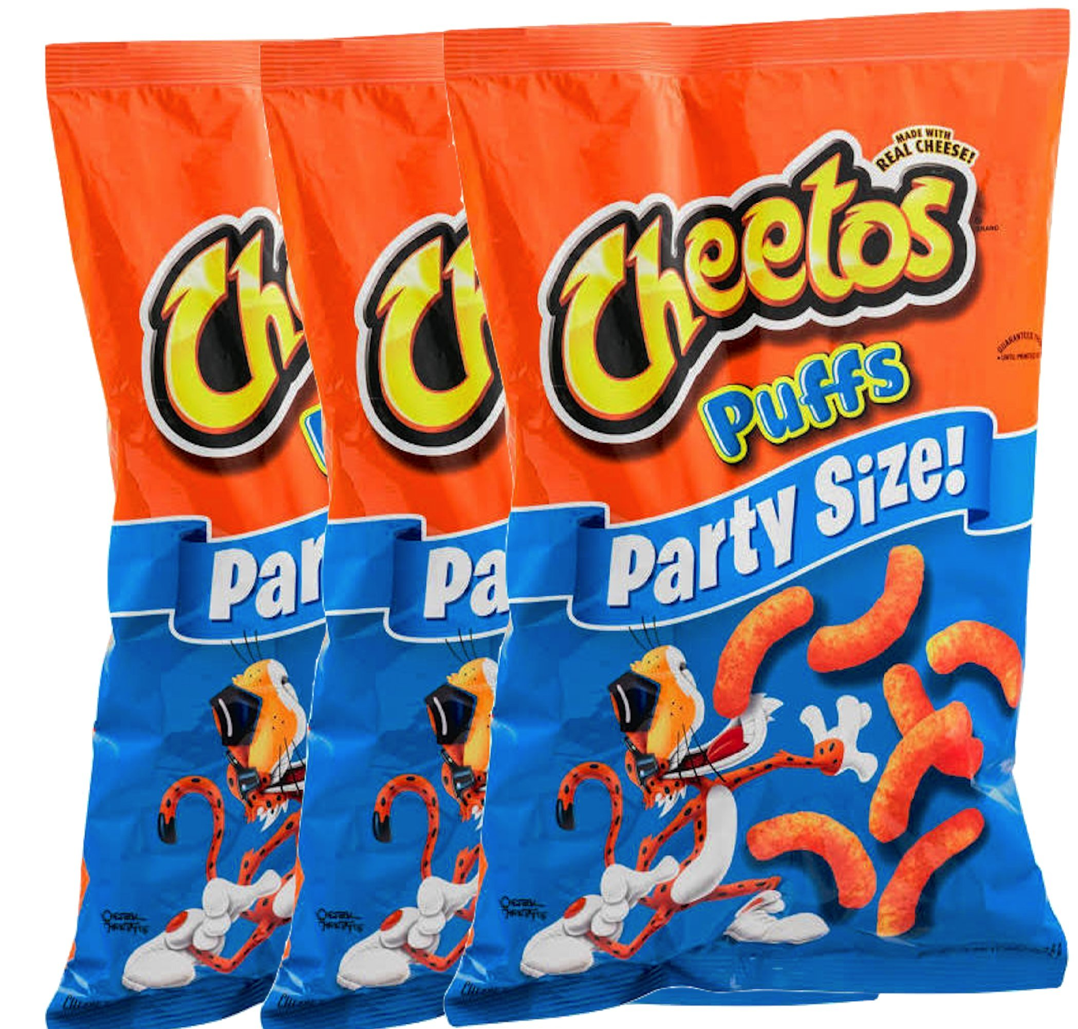 Cheetos Cheese Puffs Party Size 16 oz Bag (3)