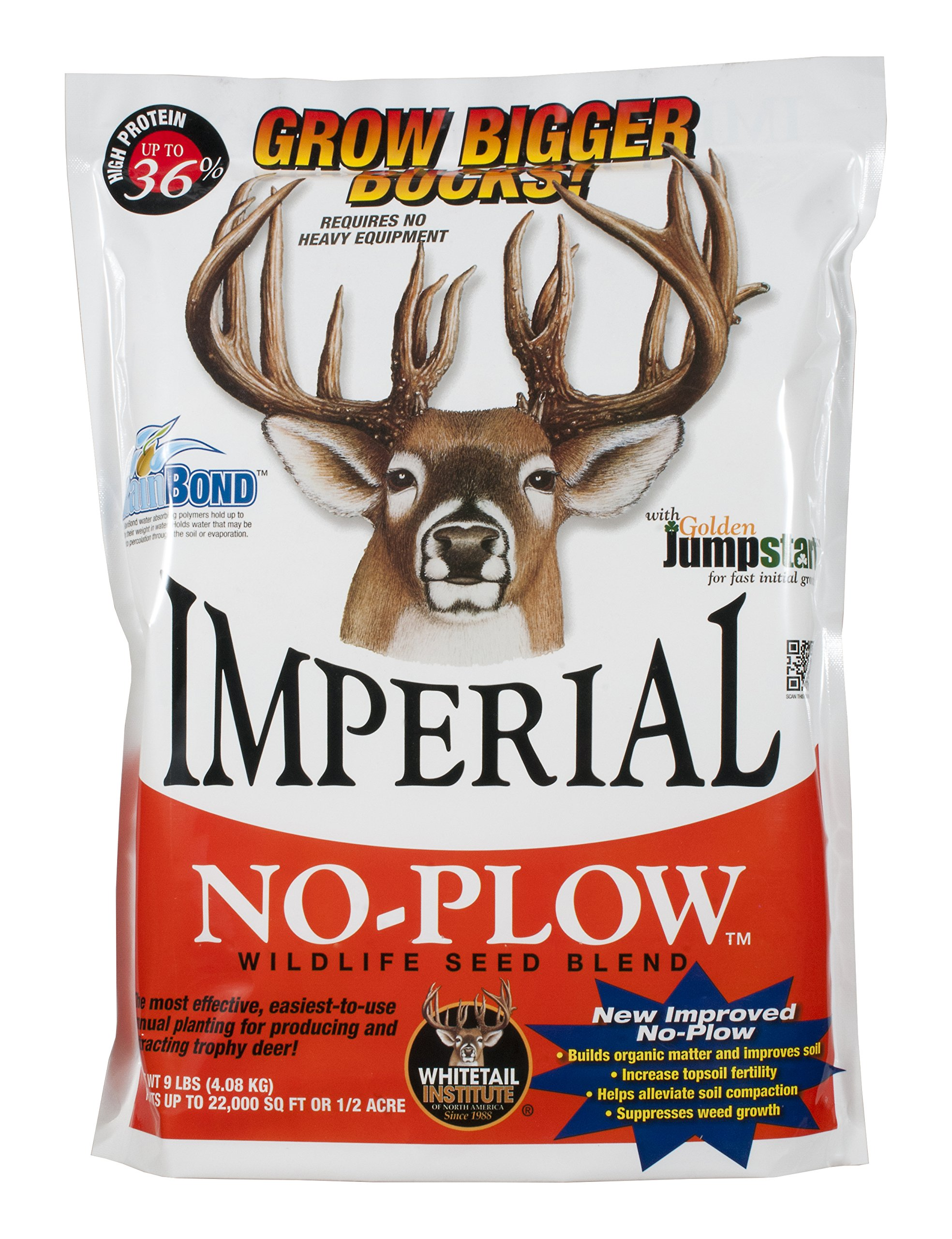 Whitetail Institute Imperial ''No-Plow'' Food Plot Seed (Spring and Fall Planting), 9-Pound (.5 Acre) by Whitetail Institute