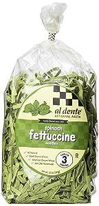 Al Dente Spinach Fettuccine, 12-Ounce Bag (Pack of 6)