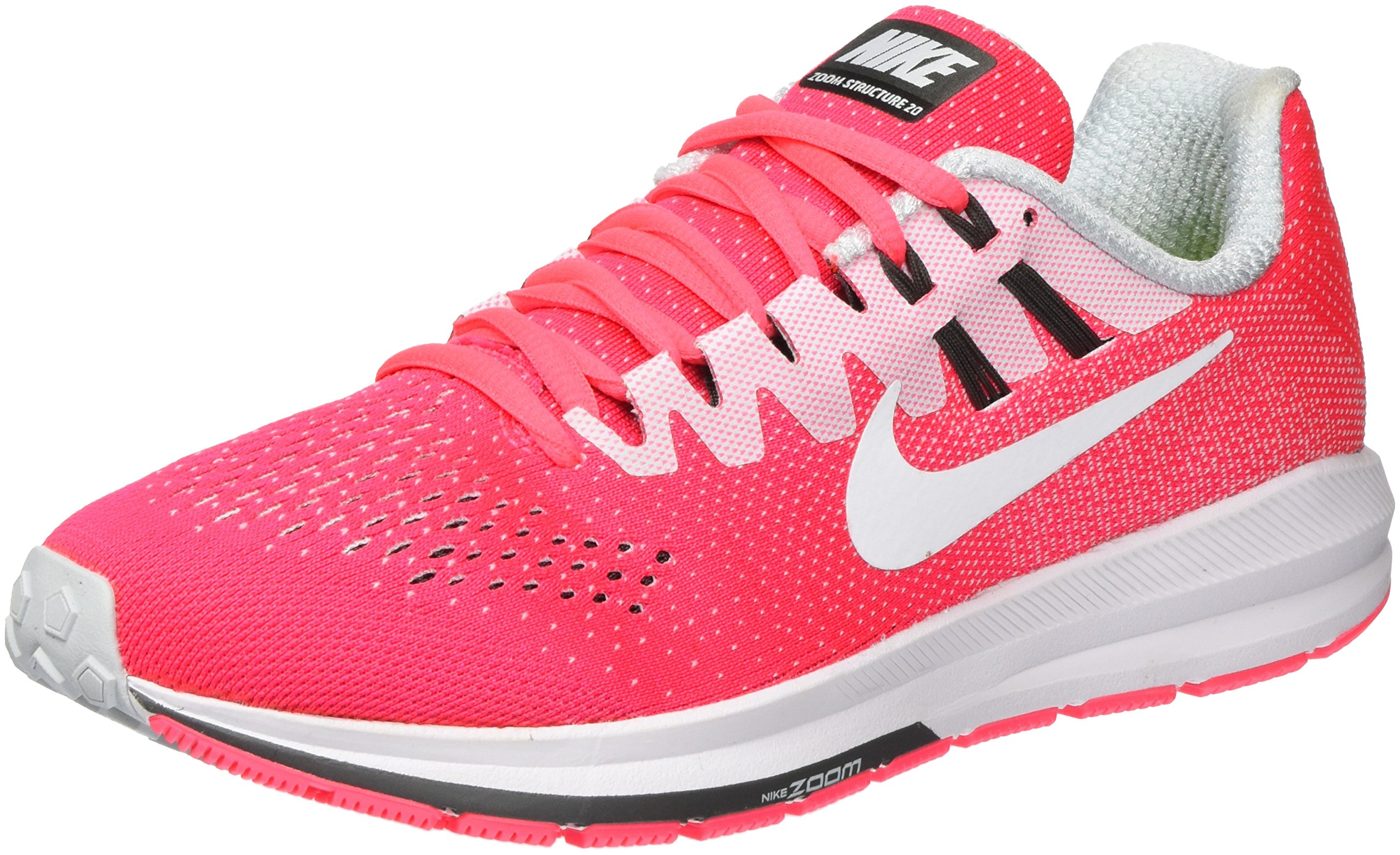 sells well known big sale Women's Nike Air Zoom Structure 20 Running Shoe RACER PINK/WHITE-PURE  PLATINUM 8.5
