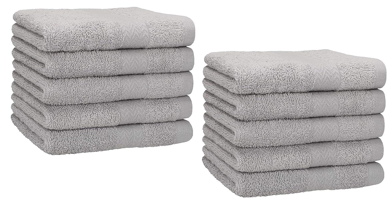 - 100/% Cotone Perfezionare per Hotel /& Spa 6 Pezzi, 41x 71 cm Grigio Utopia Towels Set di Asciugamani Mani Massima Morbidezza e assorbenza da Parte di
