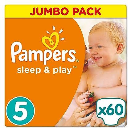 PAMPERS Suspensión y Play Talla 5, pack de ahorro 60 Pañales, 1er Pack (