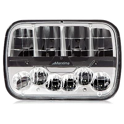 "Maxxima MHLE-5X7HILO 5"" X 7"" Rectangular Dual Beam LED Headlamp: Automotive"