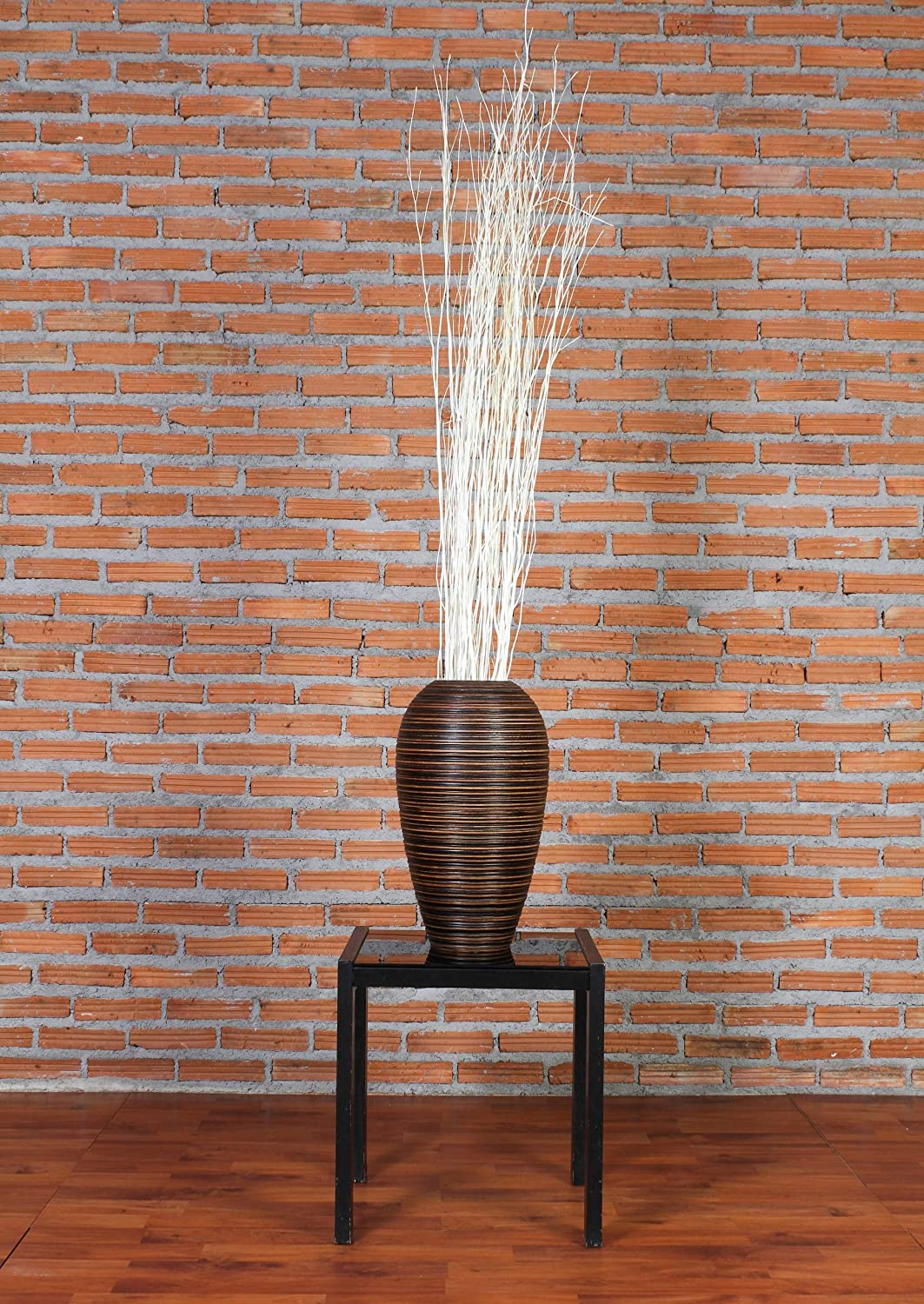 47 inches Ecru Leewadee Dried Coloured Natural Grass Bunch for Floor vases Decorative twig Bunch Rattan